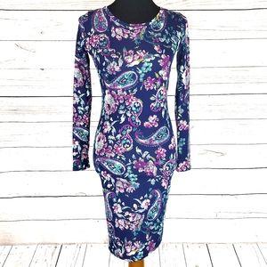 Stunning Floral Paisley LuLaRoe Debbie Dress XXS